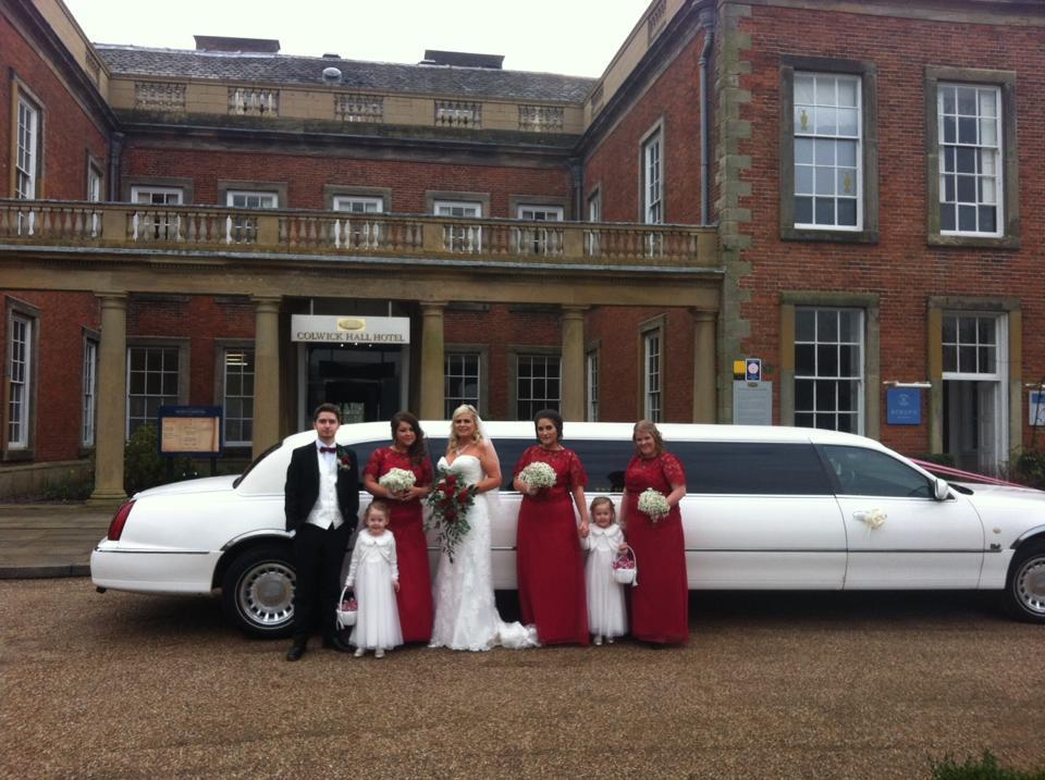 Colwick hall wedding car hire nottingham