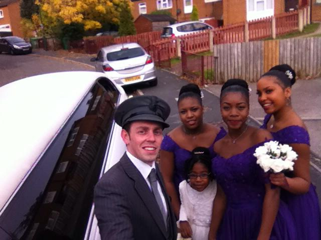 chauffeur wedding selfie