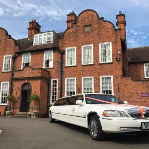 Wedding limousine hire Kellham House Nottinghamshire