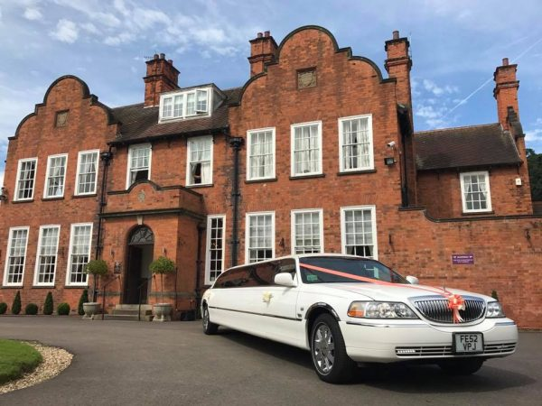 Wedding limousine hire Kellham House Nottinghamshire