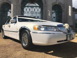 white wedding car hire nottingham