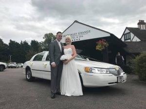 white wedding car nottingham