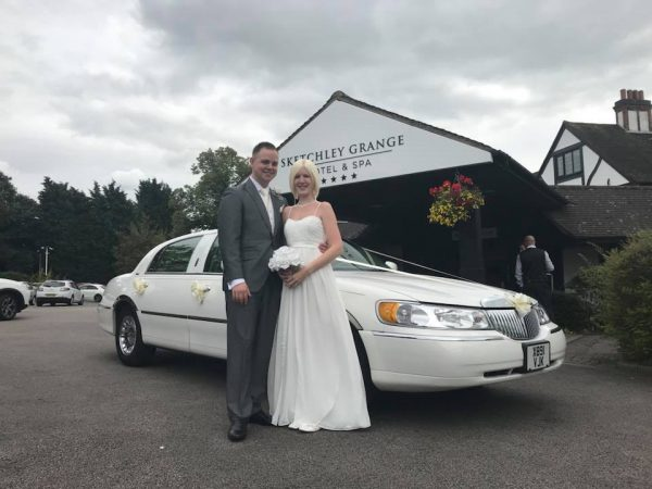 white wedding car nottingham
