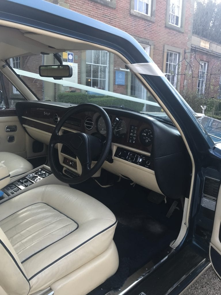 drivers seat of a Rolls-Royce