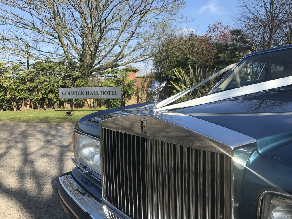 classic wedding car nottingham, rolls royce hire
