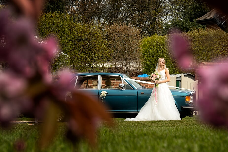 bride & wedding car