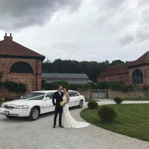 Hazel gap barn wedding limo
