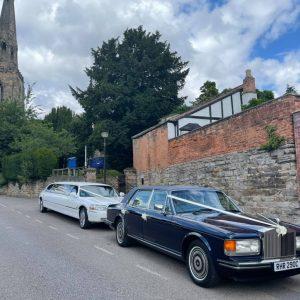 classic Rolls-Royce wedding car hire nottingham